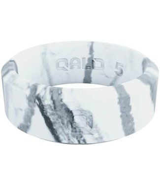 Qalo Modern White Marble Ring