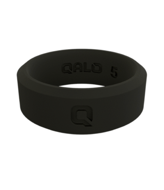 Qalo Qalo Women's Modern Black Q2X Ring