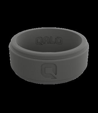 Qalo Mens Step Edge Polished Charcoal Ring
