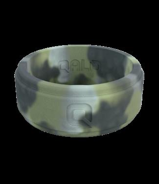 Qalo Standard Mens Brush Camo Step Edge Q2X Ring