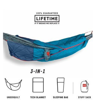 Grand Trunk Grand Trunk 360° ThermaQuilt 3-in-1 Hammock Underquilt, Blanket and Sleeping Bag
