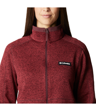 Columbia Columbia Women's Sweater Weather Full Zip Malbec Heather