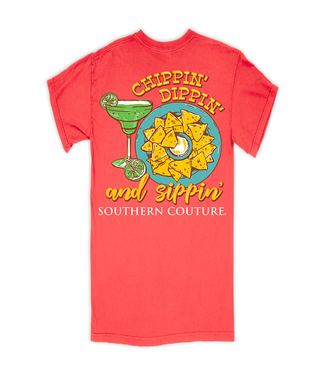 Southern Couture Southern Couture Comfort Chippin' Dippin' Neon Red Orange