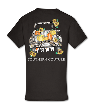 Southern Couture Southern Couture Fall Leopard Truck SS Tee Dark Chocolate