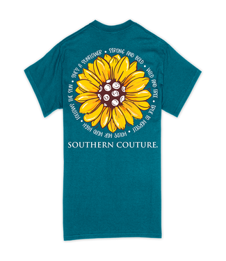 Southern Couture Southern Couture Classic Strong & Bold Sunflower SS Tee Galapagos Blue