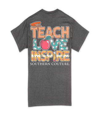 Southern Couture Southern Couture Classic Teach, Love, Inspire SS Tee Charcoal