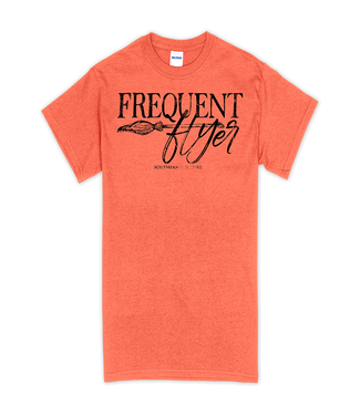 Southern Couture Southern Couture Soft Frequent Flyer SS Tee Heather Orange