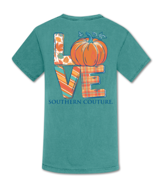 Southern Couture Southern Couture Comfort Love Pumpkin SS Tee Seafoam