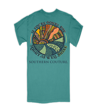 Southern Couture Southern Couture Comfort If You're Gonna Rise SS Tee Seafoam