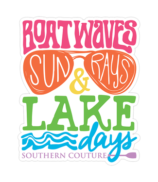 Southern Couture Southern Couture Boat Waves Lake Days Sticker