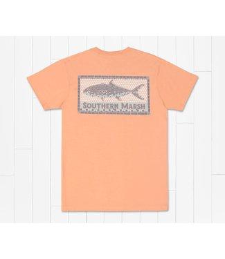 Southern Marsh Southern Marsh Tile Fish Peach SS Tee