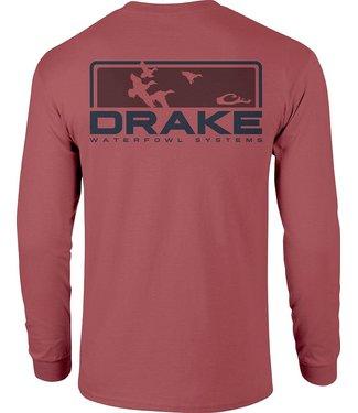 Drake Drake Knockout LS Tee Vintage Red