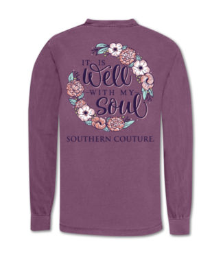 Southern Couture Southern Couture Comfort Well With My Soul LS Tee Berry