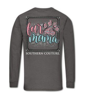 Southern Couture Southern Couture Classic Fur Mama Paw LS Tee Charcoal