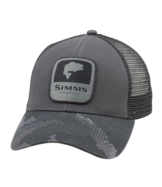 Simms Simms Bass Patch Trucker Hat Hex Flo Camo Steel