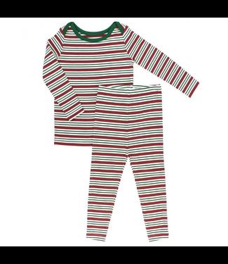 Ruggedbutts Ruggedbutts Peppermint Stripe Snuggly 2pc Pajamas