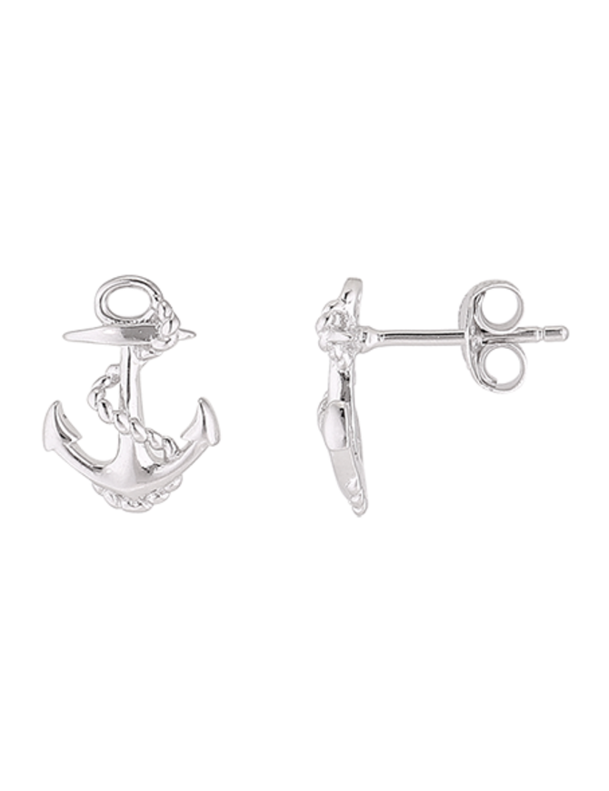 Earring Sterling Silver Anchor