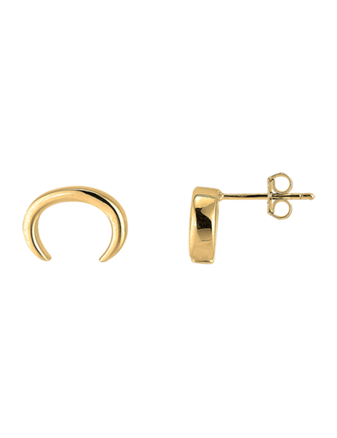 Earring 18 ct Gold Plated Sterling Silver Horn Stud