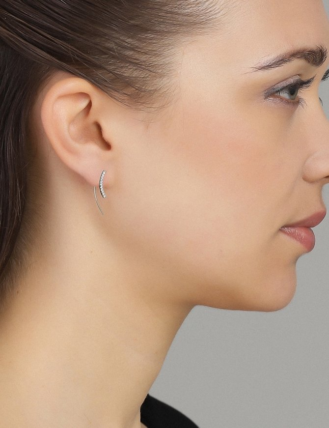 Earring Sterling Silver Up-the-Ear