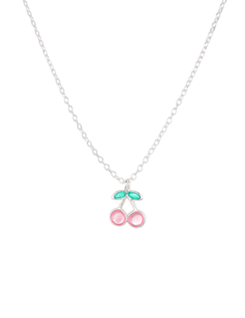 Necklace Sterling Silver  Pink Cherry Kids