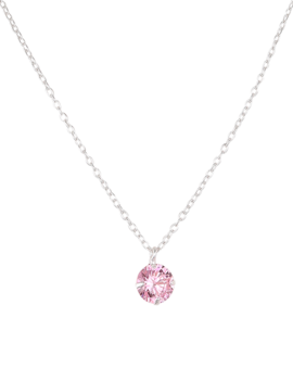 Necklace Sterling Silver Pink Kids