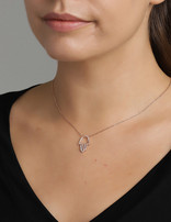 Necklace 18 ct Rose Gold Plated Sterling Silver Hamsa Hand