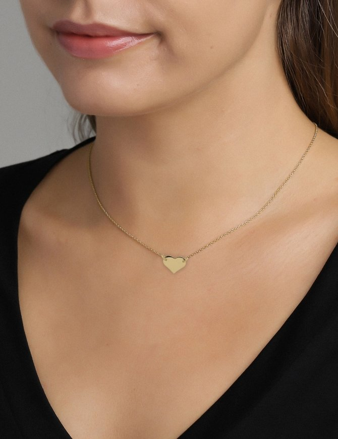 Necklace 18 ct Gold Plated Sterling Silver Heart