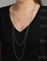 Necklace Sterling Silver Cable Chain 80 cm
