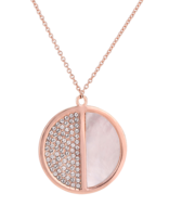 Necklace 18 ct Rose Gold Plated Sterling Silver Round