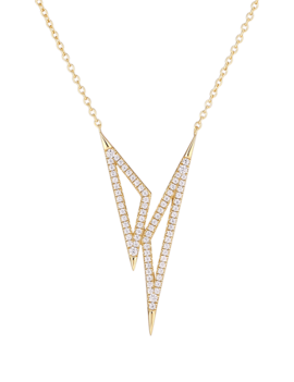 Necklace 18 ct Gold Plated Sterling Silver Clear Country