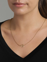 Necklace 18 ct Gold Plated Sterling Silver Anchor