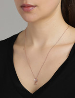 Necklace 18 ct Rose Gold Plated Sterling Silver Wishbone