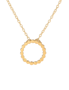 Necklace 18 ct Gold Plated Sterling Silver Cirkle