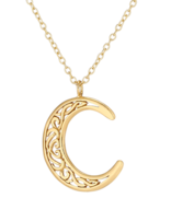 Necklace 18 ct Gold Plated Sterling Silver Moon