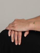 Bracelet (18 ct Gold Plated Sterling Silver)Dangling Pendants Bangle