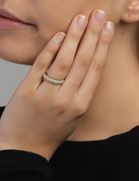 Ring 18 ct Gold Plated Sterling Silver Clear Eternity- Large