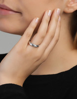 Ring Sterling Silver Clear Eternity- Small