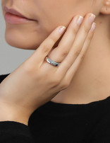 Ring Sterling Silver Clear Eternity-Medium