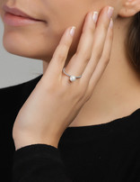 Ring Sterling Silver White Infinity- Large