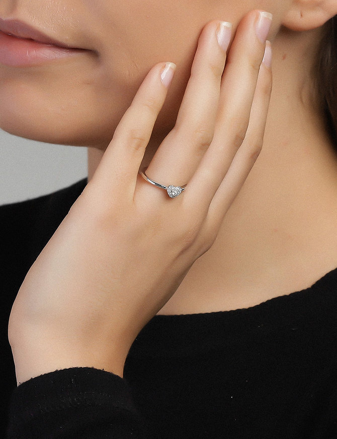 Ring Sterling Silver Clear Infinity-Large