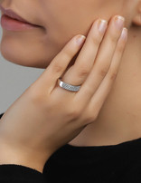 Ring Sterling Silver Clear Serenity-Extra Small