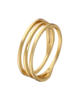 Ring 18 ct Gold Plated Sterling Silver Interwining-Extra Small