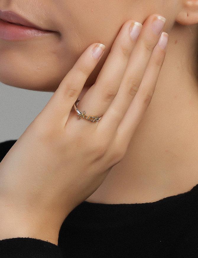 Ring Sterling Silver Faith-Extra Large