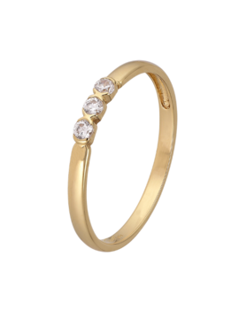 Ring 18 ct Gold Plated Sterling Silver Clear Infinity-Extra Large