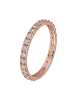 Ring 18 ct Rose Gold Plated Sterling Silver Sprinkling-Small