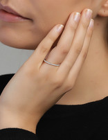 Ring Sterling Silver Line-Large