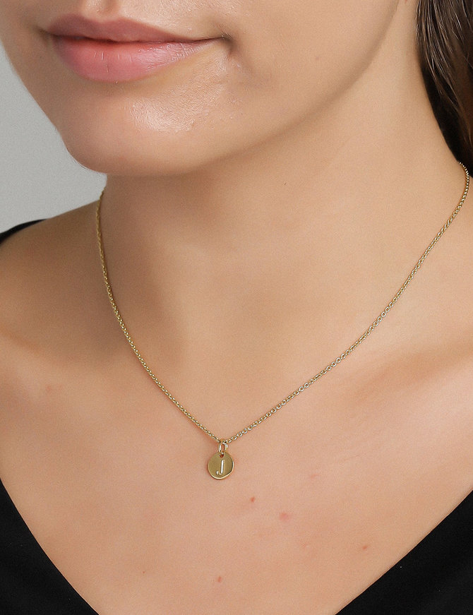 Pendant 18 ct Gold Plated Sterling Silver J