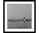 woman waves