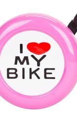 Sunlite Sunlite I Love my Bike Bell Pink