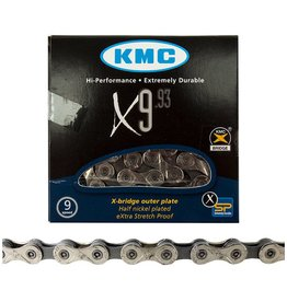 KMC KMC X9.93 Chain: 9 Speed 116 Links Silver/Gray